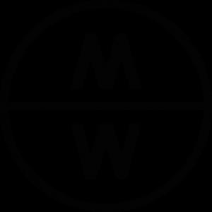 Das Bild zeigt einen schwarzen Kreis mit den beiden Buchstaben M und W in der Mitte