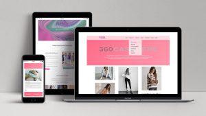 webagentur-mw-referenz-flessa-modeagentur - das bild zeigt ansichten von laptop, handy und tablet mit der website von flessa-modeagentur