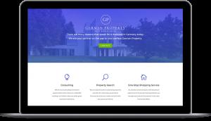 webagentur-mw-projekt-german-property - das bild zeigt ein geöffnetes laptop mit der website von german-property