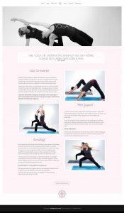 webagentur-mw - das bild zeigt einen screenshot der unterseite yoga von der website gopika.de