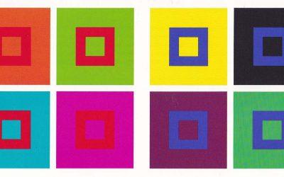 webagentur-mw - das bild zeigt farbtafeln von johannes itten zum thema farbwirkung und farbwirklichkeit