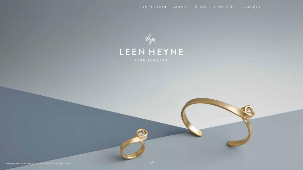 webagentur-mw - das bild zeigt die homepage der firma leen heyne als beispiel für die farbe grau im webdesign