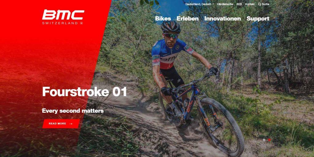 webagentur-mw - das bild zeigt die homepage der firma bmc switzerland als beispiel für die farbe rot im webdesign