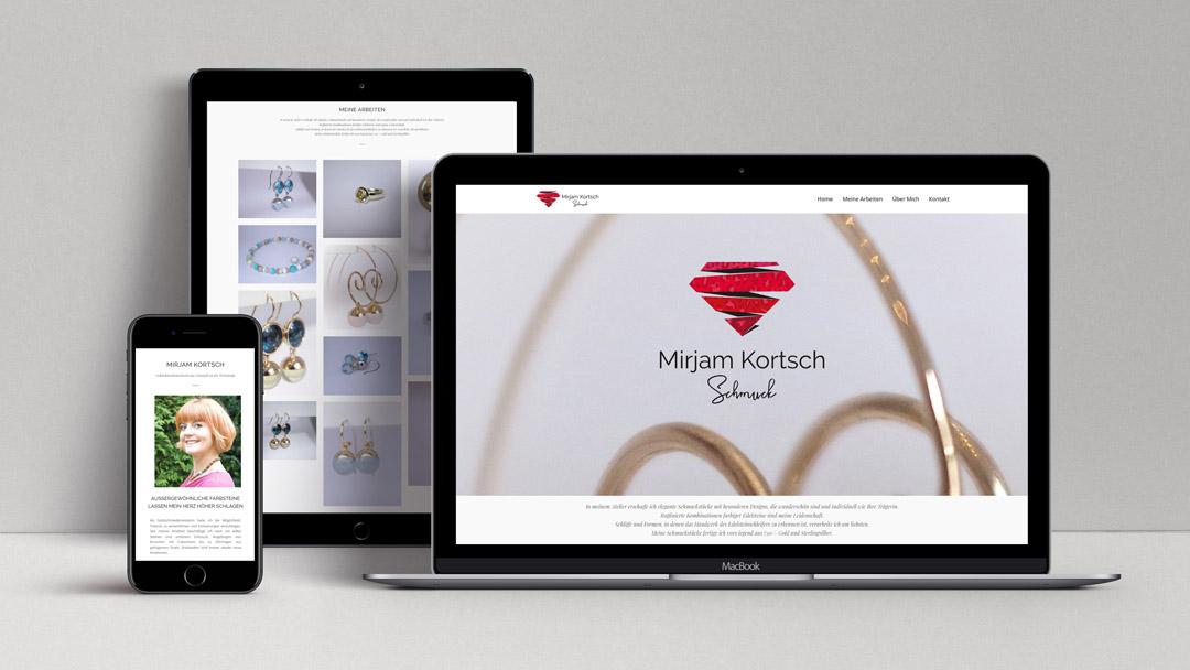 Webagentur MW - Projekte - Mirjam Kortsch